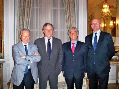 L'On. Antonio TAJANI, V.Presidente della Commissione Europea, incontra a Bruxelles Gino Falleri e Carlo Felice Corsetti , accompagnati da Alessandro Butticé