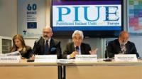 """Bruxelles, 16 maggio 2018 – Info Point Europa Bruxelles, 16 maggio 2018 – Info Point Europa """"Presentazione dell'Associazione PIUE – Pubblicisti Italiani Uniti per l'Europa e della rivista """"Più Europei"""""""